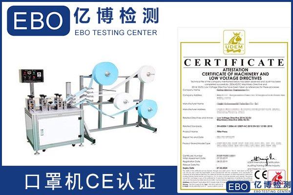 KN95口罩机CE认证